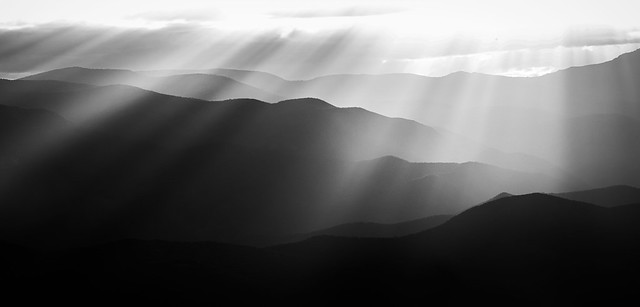 Shadow play mountains