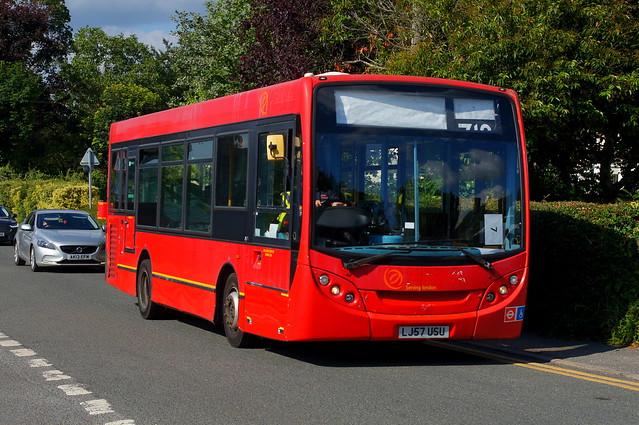 New Toy: Trustybus (ex Arriva London EN3) ADL Enviro200 8.9m LJ57USU High View Birchanger 14/07/21