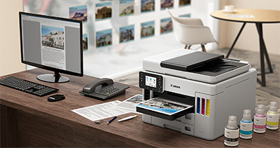 Canon's Maxify GX7070 and Maxify GX6070 refillable ink tank printers promise to help small and mid-size offices meet the need for colour printing in high volumes, while making it affordable to do so.