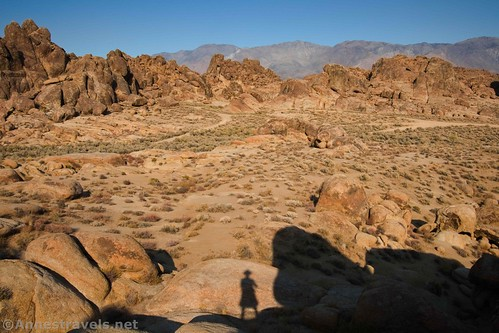 In the western section looking east, Alabama Hills National Scenic Area, California