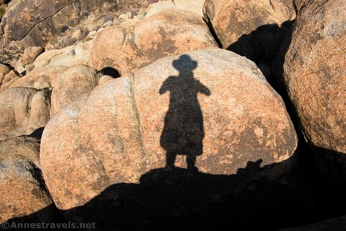 The shadow of Your Intrepid Author on a rock, Alabama Hills National Scenic Area, California