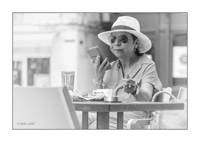 Coffee with a smartphone