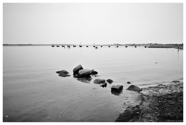 Strand, Steine, Badende