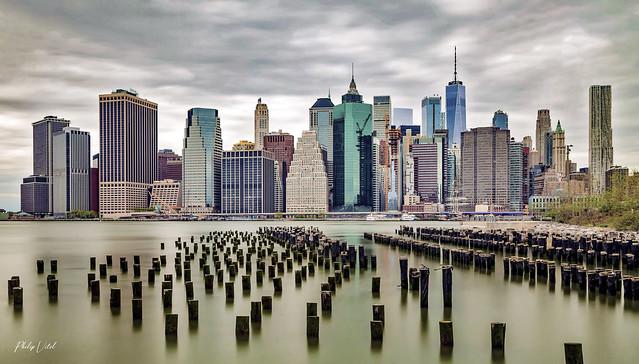 Skyline, Manhattan vu de Brooklyn.
