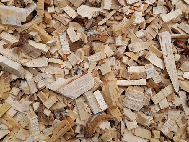 Wood chips for bio energy.