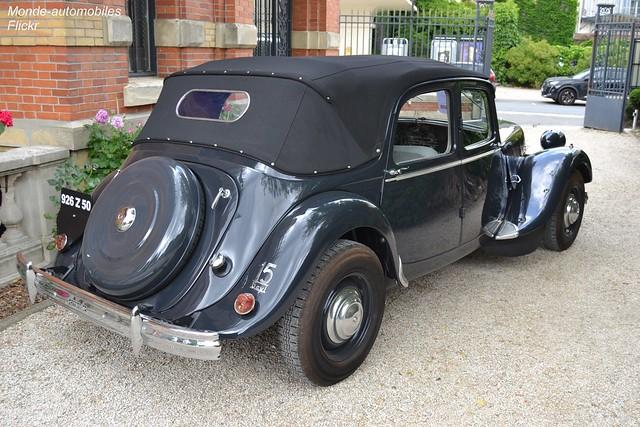 Citroën Traction 15/6 découvrable 1952
