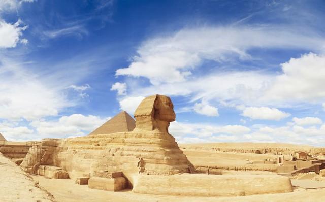 La esfinge y la Gran Pirámide (Egipto)