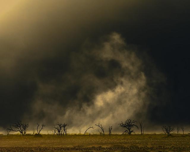 Dust swirls