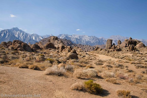 Lone Pine Peak, Mt. Whiney, and the High Sierras, Alabama Hills National Scenic Area, California