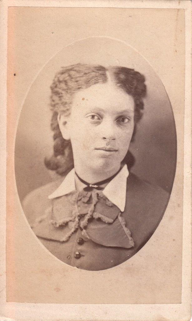 CDV_oval portrait of Ella Richardson, Norwalk, Ohio