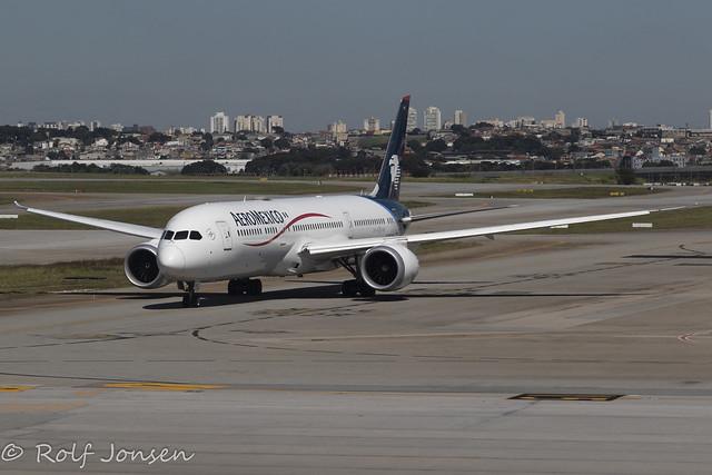 N183AM Boeing 787-9 Aeromexico Sao Paulo Airport SBGR 08.04-21