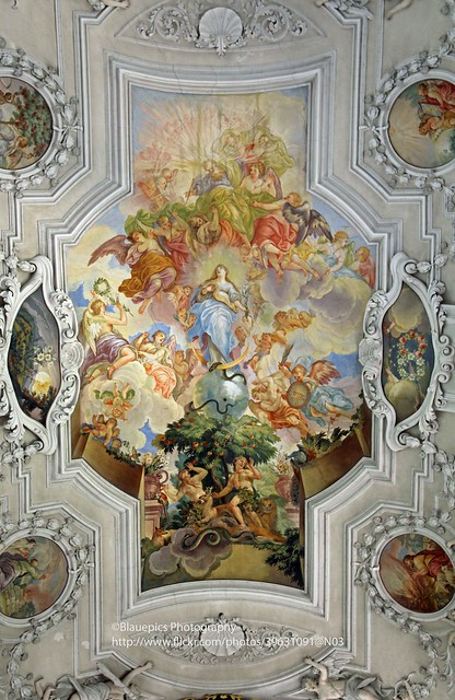 Ellwangen, Wallfahrtskirche Schönenberg, ceiling