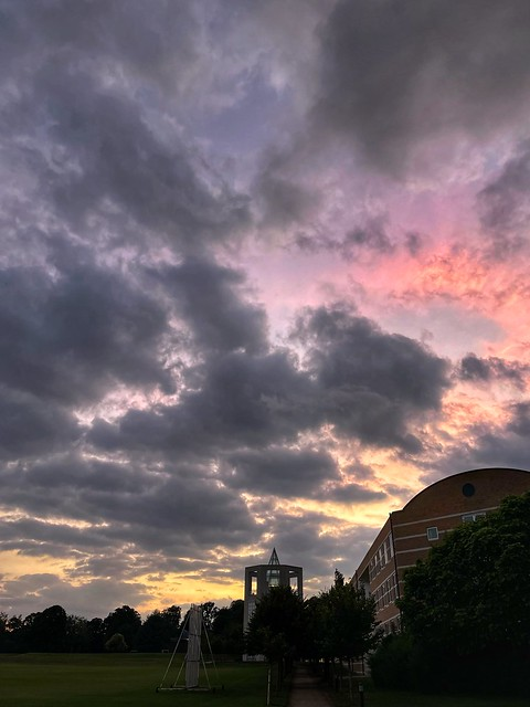 Sunset in Cambridge 14 July 2021