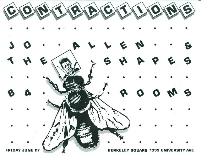 CONTRACTIONS, JOE ALLEN & THE SHAPES, 84 ROOMS @ Berkeley Square, Berkeley, CA 1981