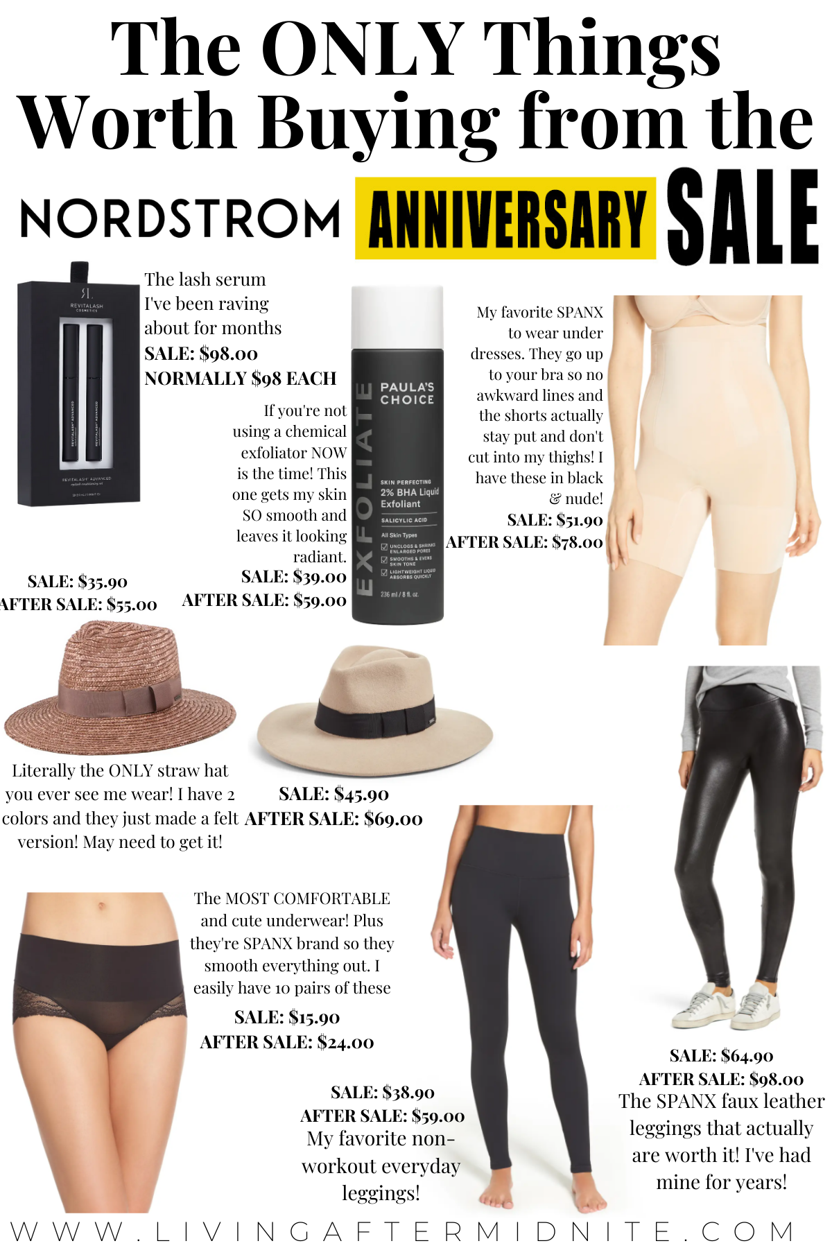 The ONLY Things Worth Buying from the Nordstrom Anniversary Sale   Is the Nordstrom Anniversary Sale Worth It?   Spanx   Revitalash   Zella Leggings   Brixton Hat   Paula's Choice
