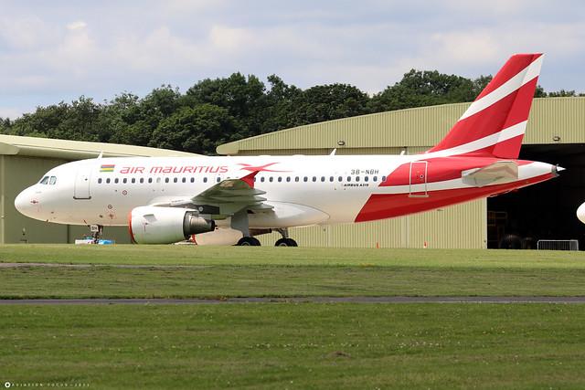 3B-NBH  -  Airbus A319-112  -  Air Mauritius  -  GBA/EGBP 14/7/21