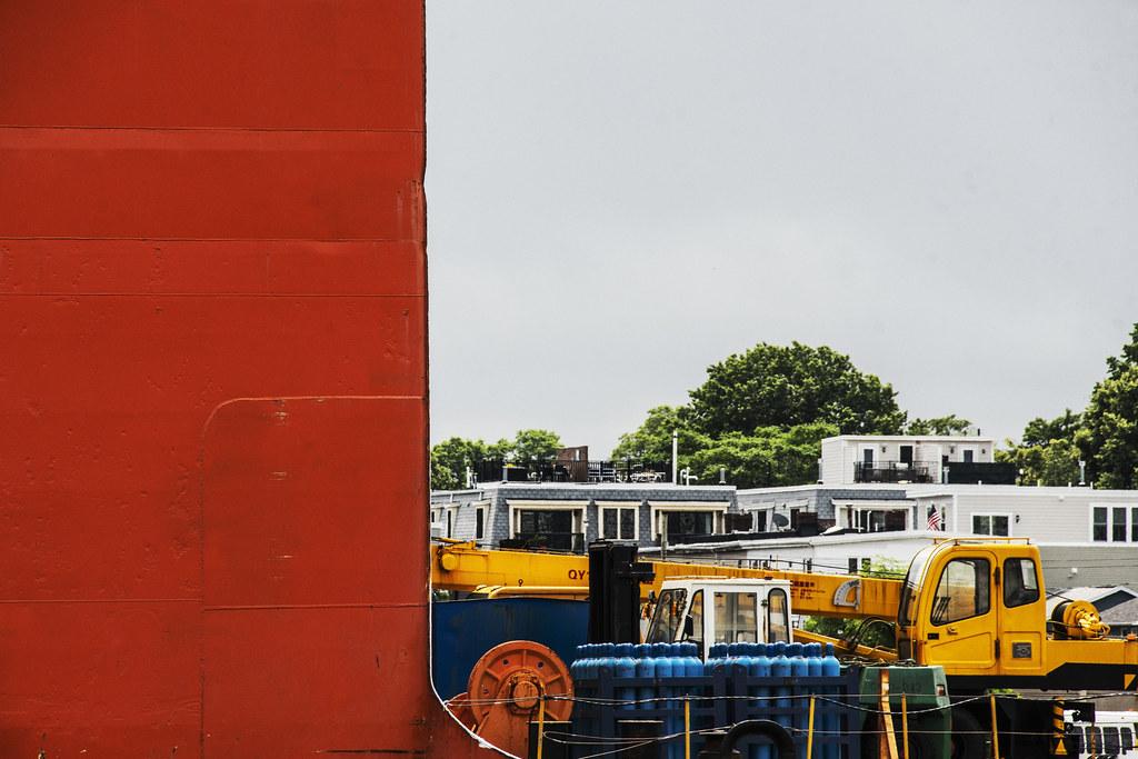 Cargo Ship and Condos