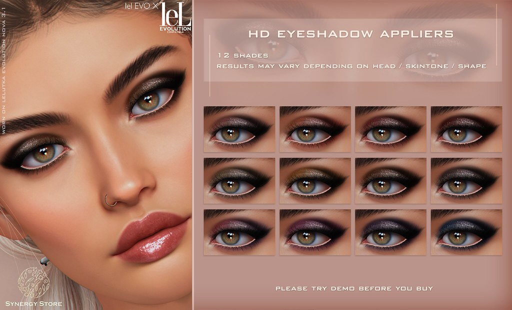 Synergy – Lelutka HD Eyeshadow Applier for EVO/EVO X heads – Derby♥