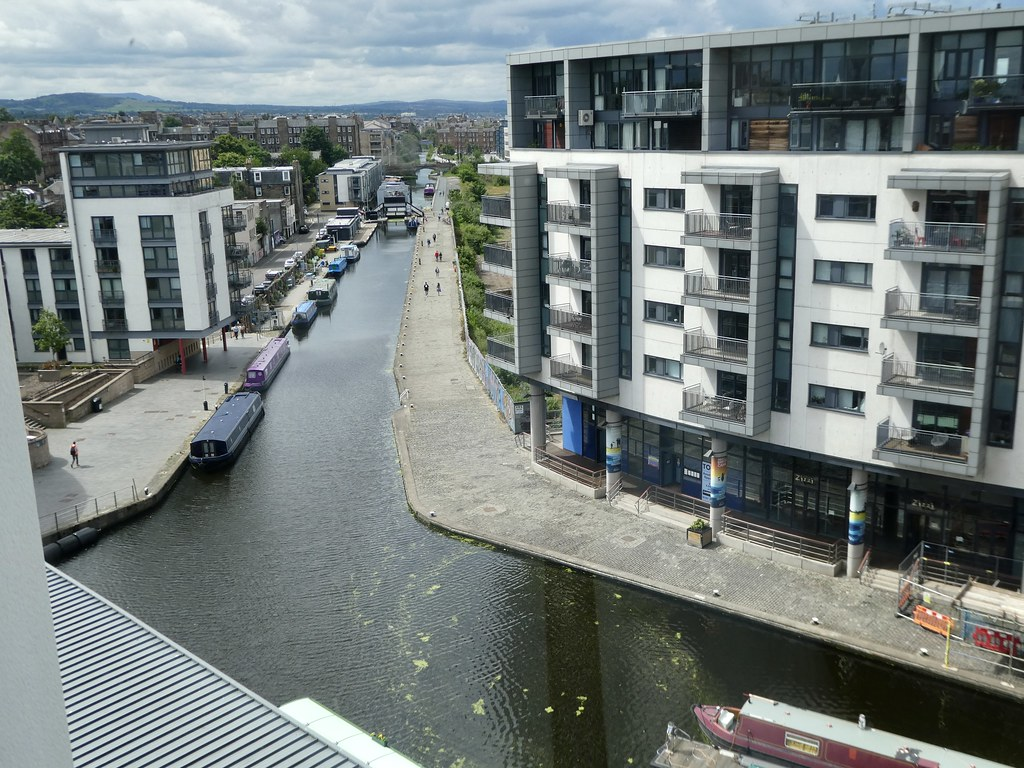 View of the Union Canal from Altido Vita aparthotel, Edinburgh