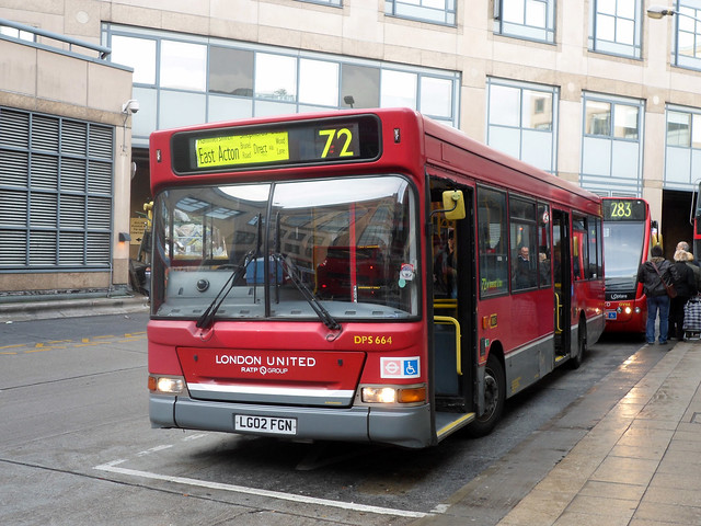 Route 72, London United, DPS664, LG02FGN