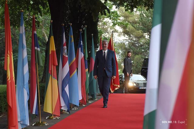 Zdravko Krivokapić - prijem u susret Šestom zasijedanju Globalnog savjeta za mir i toleranciju u organizaciji Skupštine CG (15.07.2021.)