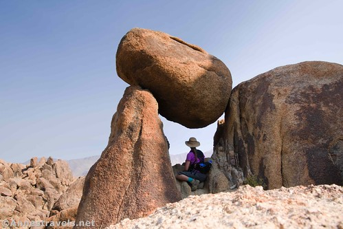 A balancing rock arch I discovered on my ramble through the Alabama Hills National Scenic Area, California