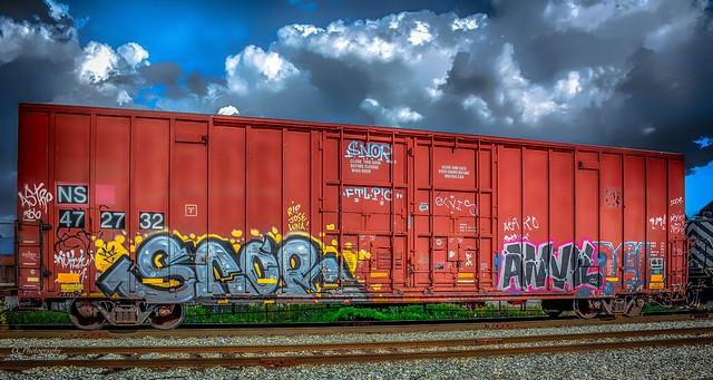Graffiti Tagged Boxcar