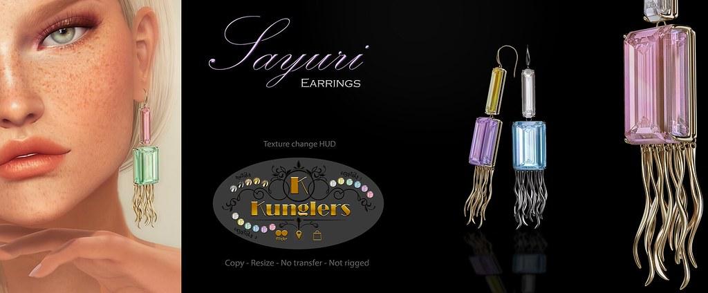 KUNGLERS – Sayuri earrings