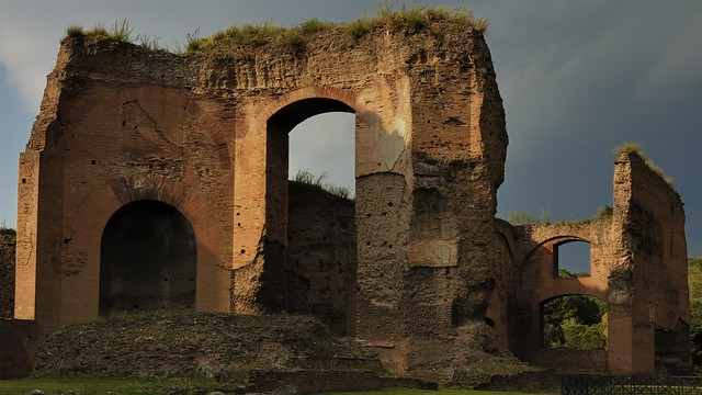 After the storm -  Baths of Caracalla, 217 CE, Rome.