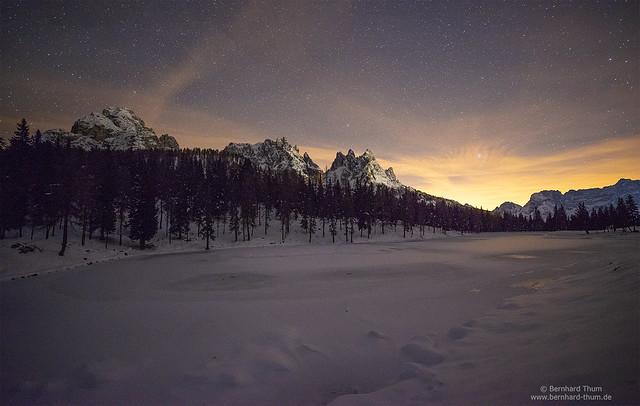 Night at Lago di Misurina