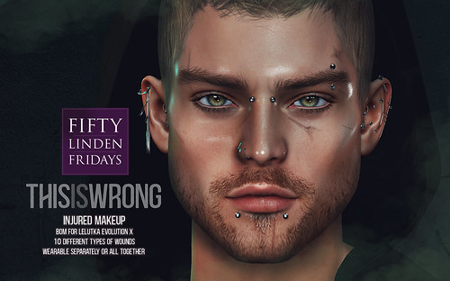 THIS IS WRONG Injured makeup - exclusive for Fifty Linden Fridays!