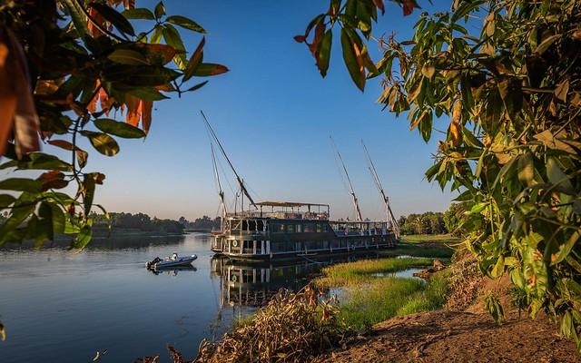 Dahabeya o velero tradicional egipcio (Esta de la imagen es con la que viajaremos por el río Nilo)