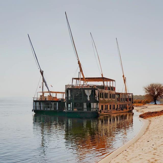Dahabeyas en el río Nilo (Egipto)