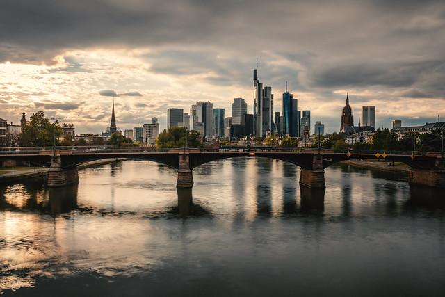 Frankfurt skyline sunset - September 2020