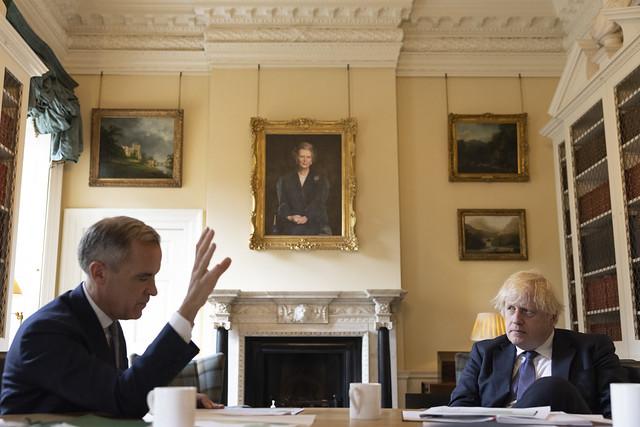 Prime Minister Boris Johnson meets with Mark Carney