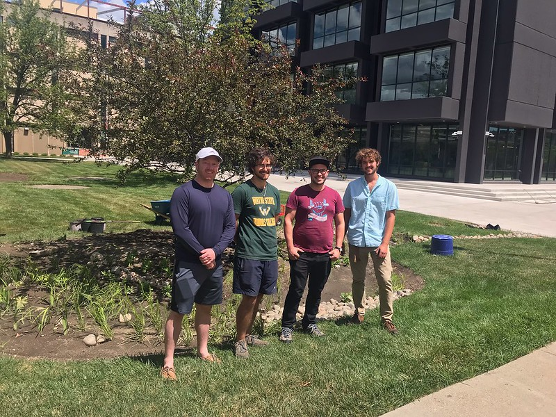 Students install new bioswale on campus