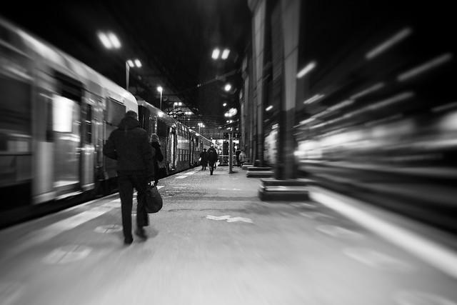 Transport, RER D, B&W, 58