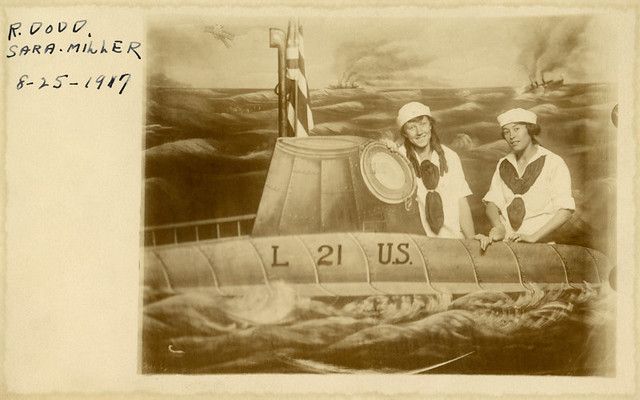 Ruth and Sara on Board the L-21 Submarine, August 25, 1917