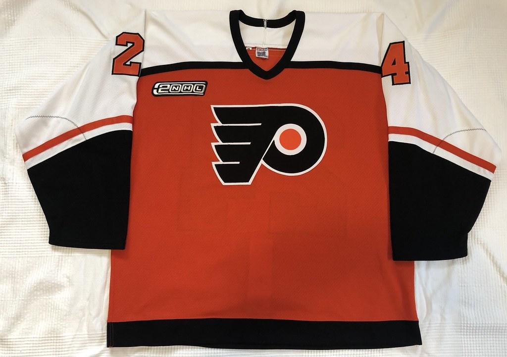 1999-2000 Zarley Zalapski Philadelphia Flyers Authentic Away Jersey Front