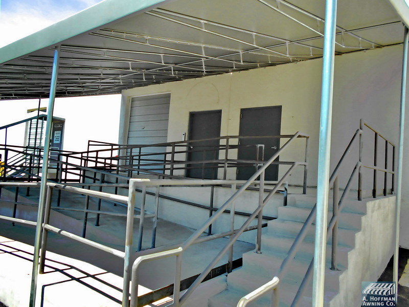 commercial-building-ramp-awning- Hoffman Awning