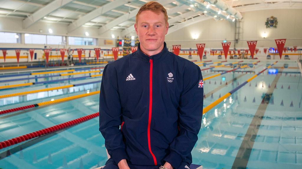Tom Dean at the Team Bath Sports Training Village swimming pool