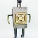 Reused materials robots sculpture