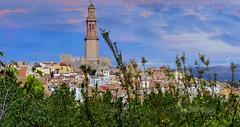 Xérica (Castellón de la Plana, Com. Valenciana, Sp) – Vista de la villa y la torre mudéjar