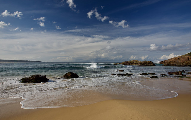 Dreamy sky and beach