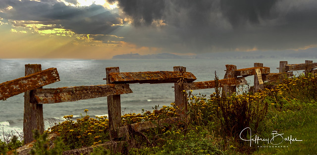 Sunset Ocean Fence @ HMB-2