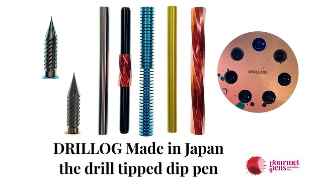 DRILLOG Made in Japan the drill tipped pen