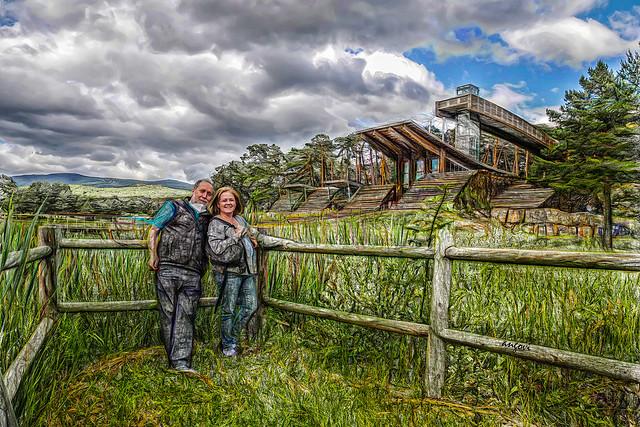 Lourdes y yo en el Museo de la madera
