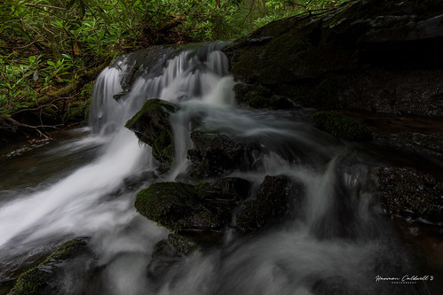 canon eos r5 ef1635mm f4l is usm waterfall cascade big crabtree creek north carolina blue ridge parkway landscape nature outdoor wide angle long exposure harmon caldwell