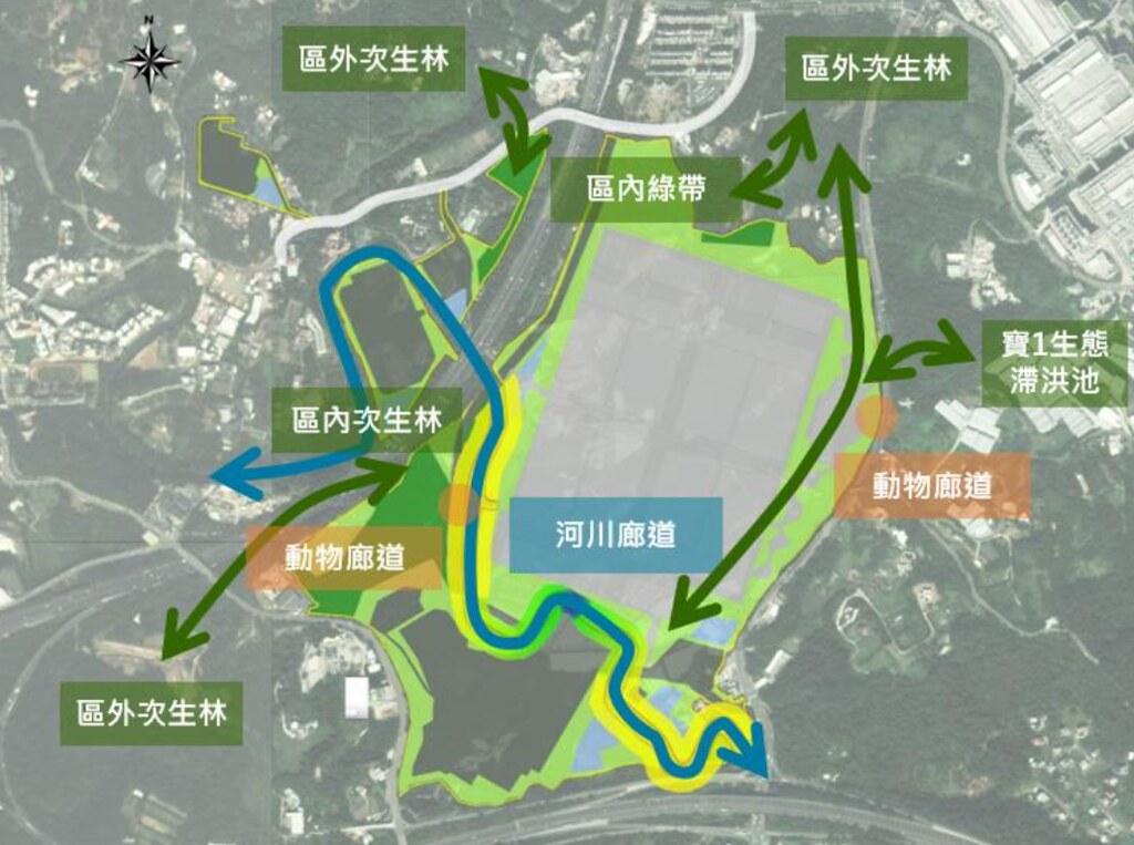 20210716竹科寶山2期環評初審過關。園區生態規劃。截自環評書件