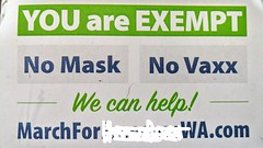 """"""" YOU are EXEMPT  No Mask  No Vaxx"""""""